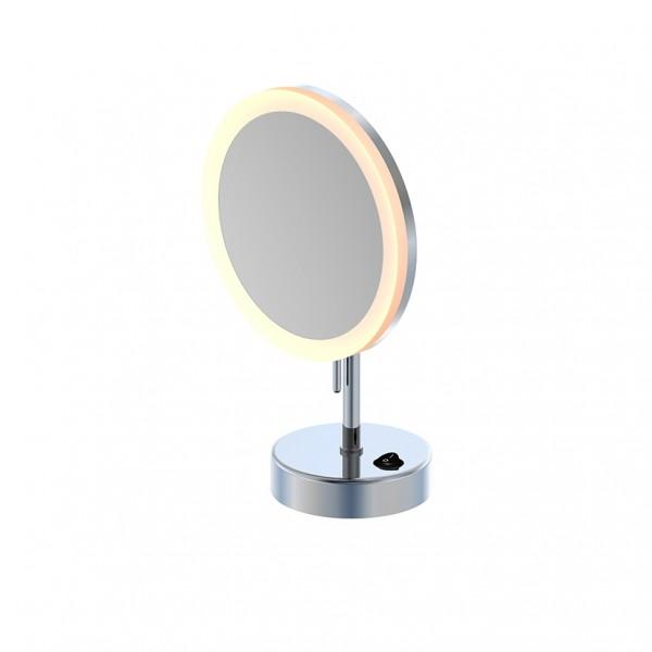 Steinberg LED Stand-Kosmetikspiegel, 5-fach Vergrößerung, batteriebetrieben, mit Schalter, 650.9300