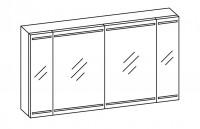 Artiqua EVOLUTION 212 LED Spiegelschrank B:1260mm 4 Türen