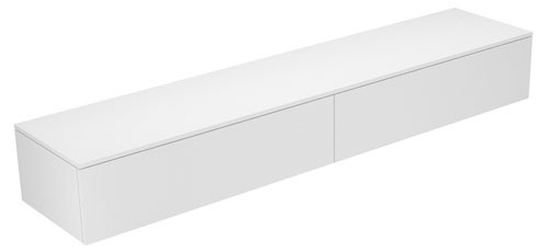 Image of Keuco Sideboard Edition 400 31771, 2 Ausz., cashm./Glas cashm. klar,450, 31771180001 31771180001