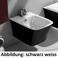 ArtCeram Cow Wand-Bidet, B: 380, T: 520 mm, black lettering Dekor