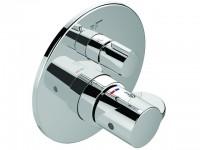 Ideal Standard Badethermostat UP CERAPLUS 2, Bausatz 2, Rosette d:163mm, Chrom, A6869AA