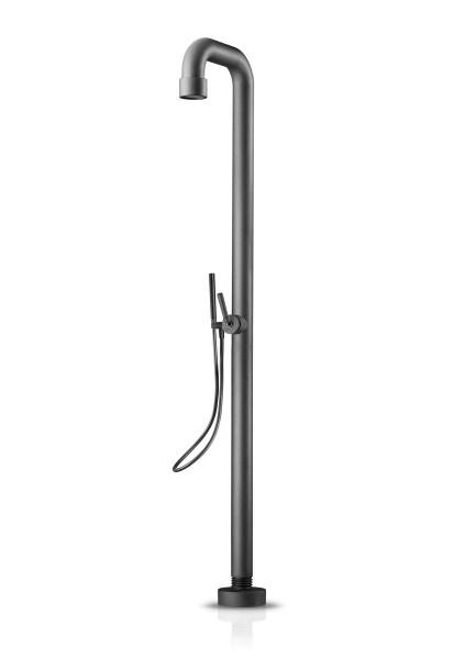 JEE-O soho shower 02 freistehende Dusche, Hammerschlagbeschichtung schwarz/matt, 700-6212
