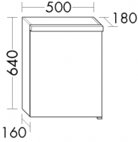 Burgbad Spiegelschrank Orell 640x500x180 Weiß Hochglanz, SPLA050LF1690