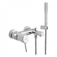 GROHE EH-Wannenbatterie Concetto 32212 Wandmontage mit Euphoria Brauseset chrom