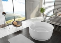 Hoesch Badewanne Tondo Rund 1700, weiß mit Relling, 6631.010