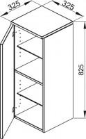 Bette Mod Highboard Halbhoch 1tür A li, 82,5x32,5x32,5 cm weiß Hochglanz, wand, RHA2-800