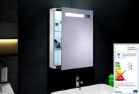 Neuesbad LED Spiegelschrank mit weißem Alurahmen