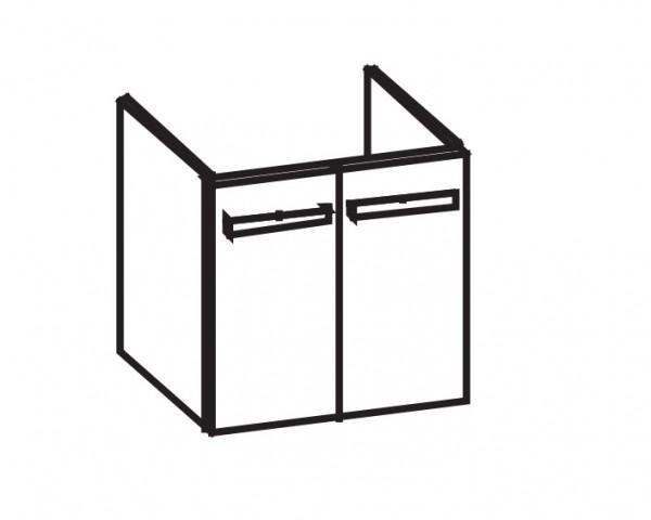 Artiqua 414 Waschtischunterschrank für Avento 415680, 415681 Anthrazit Hochglanz, 414-WU2T-V127-7015