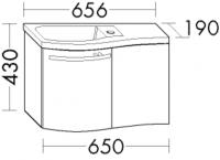 Burgbad Mineralguss-Waschtisch und Waschtischunterschrank  Sinea Weiß Hochglanz/Alpinweiss, WTU065EL