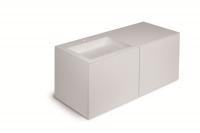 Cosmic Block Schrank 4 Schubladen mit Waschtischen Links matt,B:1200, H:520, T:500 mm