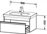 Duravit Waschtischunterschrank wandhängend Ketho T:455, B:800, H:410mm, KT6667