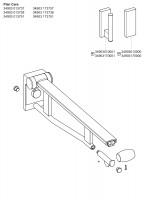 Keuco SK-Griff WC Plan Care 34903,abnehmbar silber-eloxiert/weiß, 700 mm, 34903173751