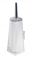 KOH-I-NOOR Tilda 5711 Toilettenbürste Wandmodell 10x11x36 cm chrom, einfache Montage ohne Bohren