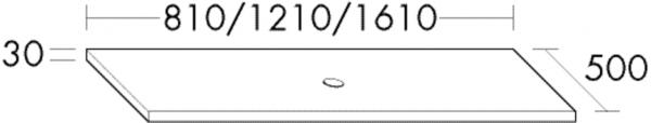 Burgbad Waschtisch-Platte Crono HGL 30x810x500 Schilf Hochglanz, APCN080F1799