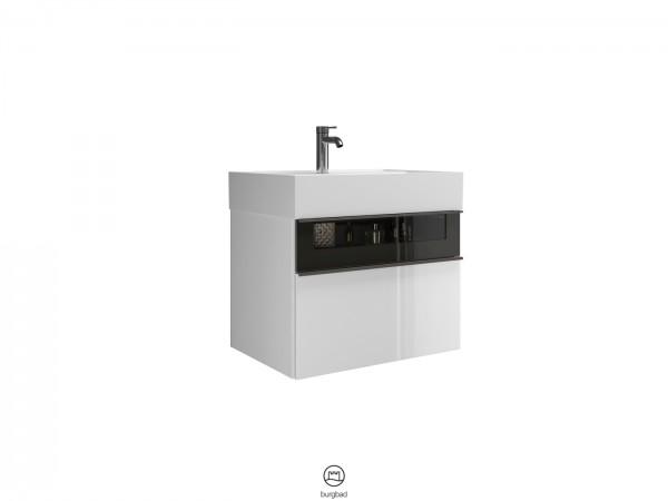Burgbad Yumo Waschtisch-Set SFKL067 Weiß Hochglanz/Alpinweiss