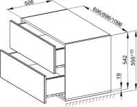 Bette Modules Lowboard mit Sockel 2 Ausz, 110x53 cm taupe Strukturlack matt, RLF2-809
