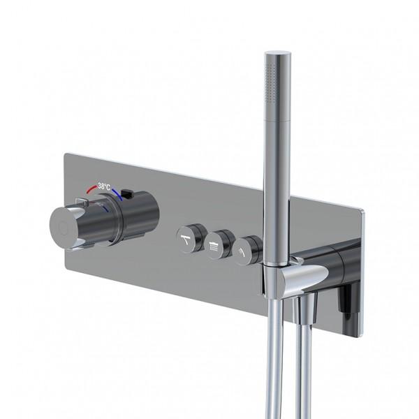 """Steinberg Serie 390 Unterputz-Thermostat 3/4"""" für 3 Verbraucher, 3904232, 390.4232"""