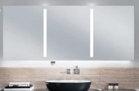 Sanipa LED Lichtspiegel variabel mit Waschtisch-Beleuchtung, (Reflection) LS7119Z 765x600-2000x40mm,
