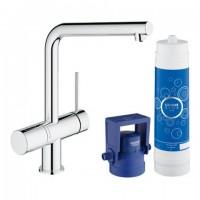 Grohe Blue Minta Pure Starter Kit 31345, für BWT-Filter L-Auslauf chrom