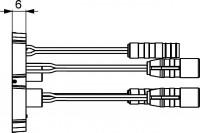 Hansa Einbaumodul 5836 zur Netzversorgung, von Batterie-Elektronikarmaturen, 58360800