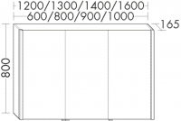 Burgbad Spiegelschrank Sys30 PG3 800x1208x165 Sys30 PG3, SPHB120L500