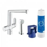Grohe Blue K7 Pure Starter Kit 31354 für BWT-Filter L-Auslauf Seitenbrause chrom