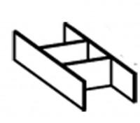 Laufen Ordnungssystem für Schubladen Palomba Glas, 4903011802201