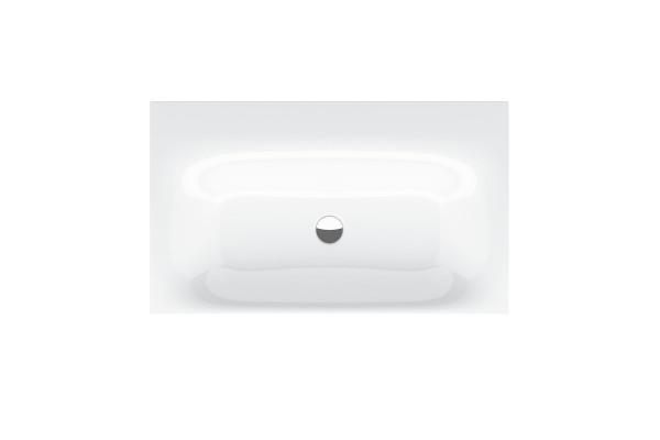 Bette Aufsatz-Waschtisch Lux 80x49,5x6 cm, mit Bohrung, weiß, Glasurplus, A164-000HLW1PW