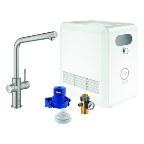 GROHE Blue Professional StarterKit 31347 L-Auslauf Bluetooth/WIFI supersteel, 31347DC3