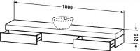 Duravit Konsole mit Schubkasten Fogo T:360, B:1800, H:215mm, FO83880