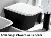 ArtCeram Cow Wand-Tiefspül-WC, B: 380, T: 520 mm, black lettering Dekor