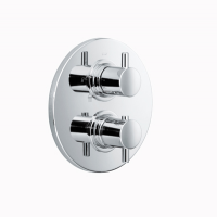HSK Unterputz-Thermostat Rund, chrom, mit 3-Wege-Umsteller