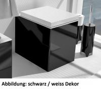 ArtCeram Block Stand-Tiefspül-WC, B: 360, T: 490 mm, schwarz glänzend