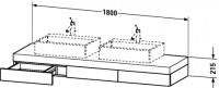 Duravit Konsole mit Schubkasten Fogo T:550, B:1800, H:215mm, FO85340