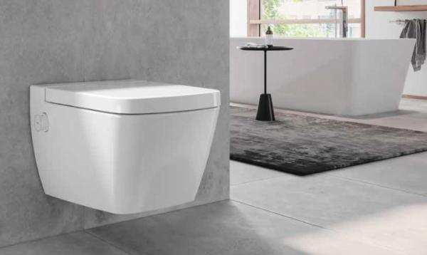TECEone WC-Keramik mit Duschfunktion Tiefspüler, weiß, 9700200