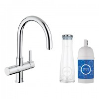 GROHE Blue Pure Starter Kit 33249 mit EH-SPT-Batterie/Filter/Karaffe chrom