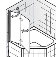 HSK Exklusiv Badewannenaufsatz 2-teilig, für 5-/ 6-Eck Badewanne