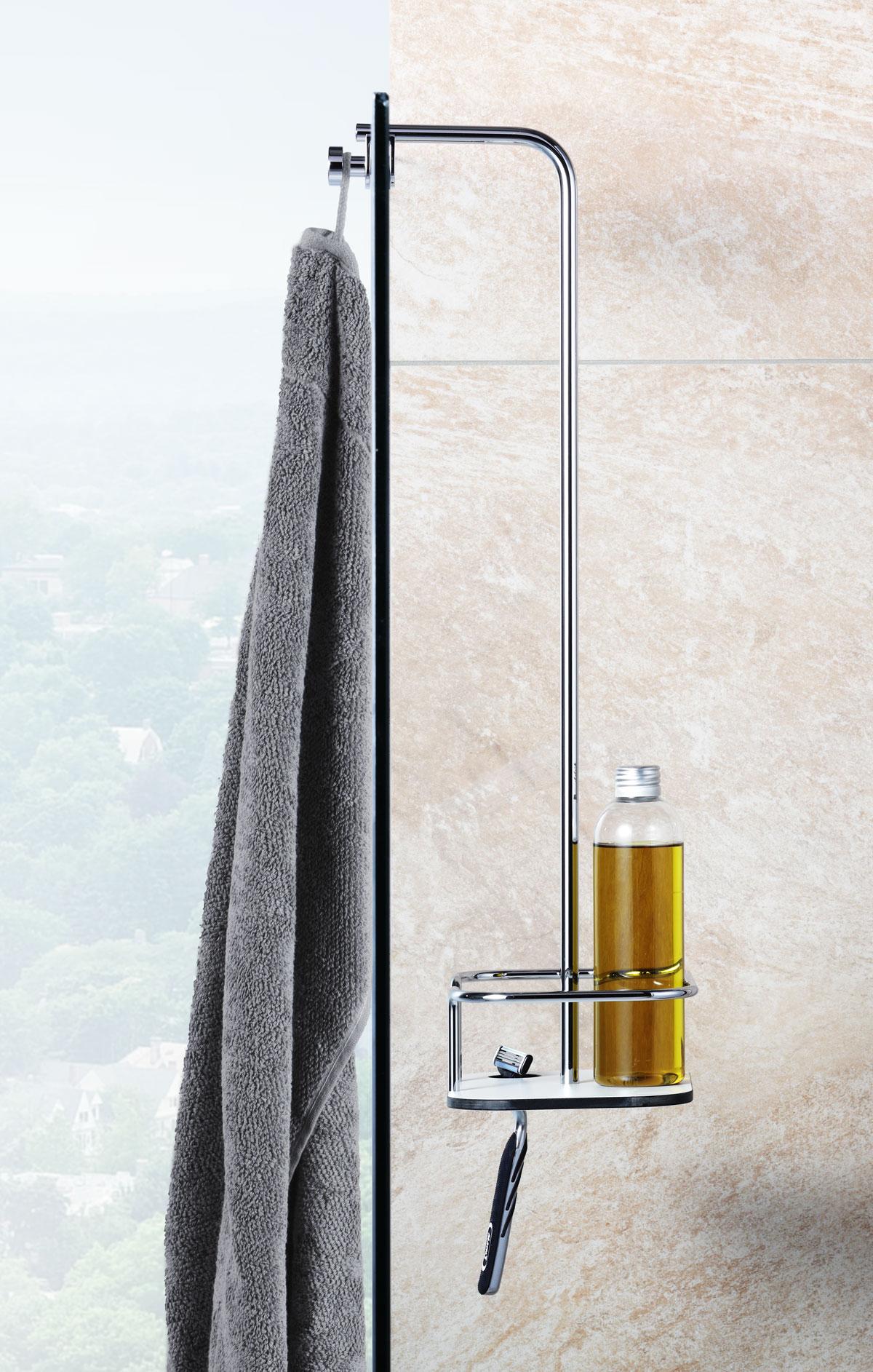 Giese Vipa Duschkorb mit Halter für Rasierer für Glaswand bis 9 mm 02