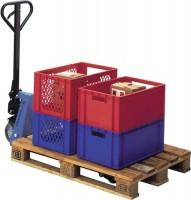NORDWEST Handel AG Gabelhubwagen PROMAT Gabel-L. 2000mm Trgf.2000kg Polyurethan/Polyurethan Tandem,