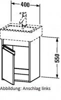 Duravit Waschtischunterschrank wandhängend Ketho T:320, B:400, H:550mm, KT6630 , Front/Korpus: terra