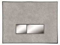 Neuesbad Betätigungsplatte mit eckigen Tasten, MDF, Farbe: Beton, Tasten: chrom glanz