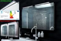 Neuesbad Design LED Badezimmerspiegel mit Heizfolie, B:1300, H:650 mm