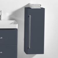 Neuesbad 4000 Seitenschrank 33 x 22 x 76 cm , Farbe dunkelgrau hochglanz, Anschlag rechts