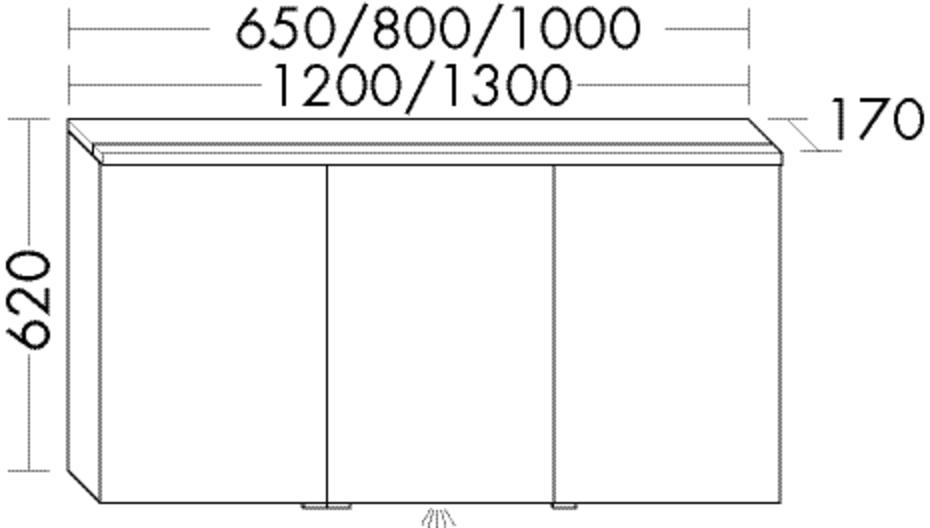 Image of Burgbad Spiegelschrank Sys30 PG1 620x1200x170 Basaltgrau Matt, SPHN120RF1720 SPHN120RF1720