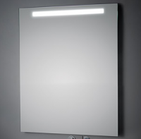 KOH-I-NOOR T5 Wandspiegel mit Oberbeleuchtung, B: 100 H: 60 T: 3,3 cm