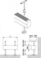 Kermi Bankträger-Set 1 Konvektor Typ21/22/32/33, weiß, ZM00020001