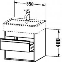 Duravit Waschtischunterschrank wandhängend Ketho T:440, B:550, H:480mm, KT6636