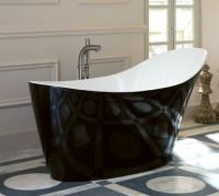 Victoria & Albert Amalfi freistehende Badewanne 1640 x 800 mm, schwarz