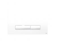 Oli Betätigungsplatte Glam,Weiß,Olipure 2-Mengen Spülung, Tiefe 6.5Mm