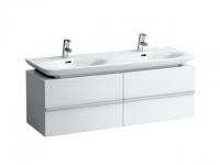 Laufen Waschtischunterbau case 1290x430x425,2 Schubladen,Weiß matt, 4013310754631
